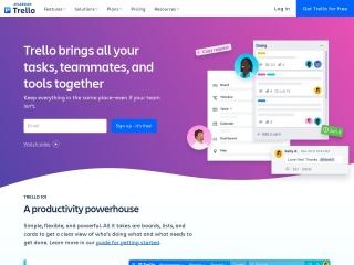 Screenshot of trello.com