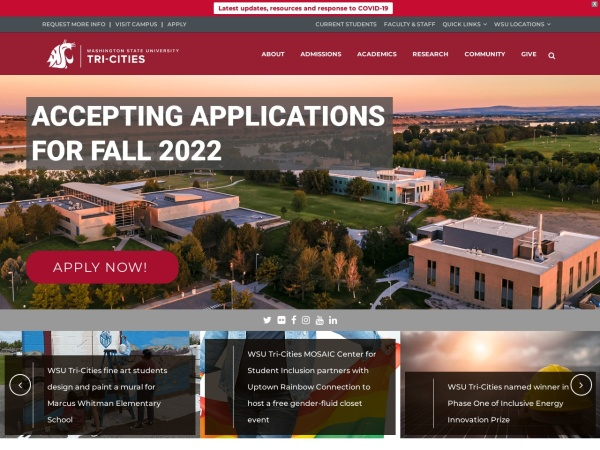 Screenshot of tricities.wsu.edu