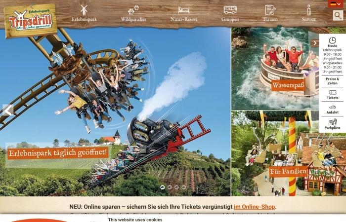 Screenshot von tripsdrill.de