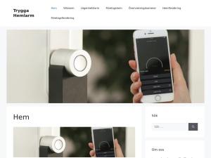 Screenshot of tryggahemlarm.se