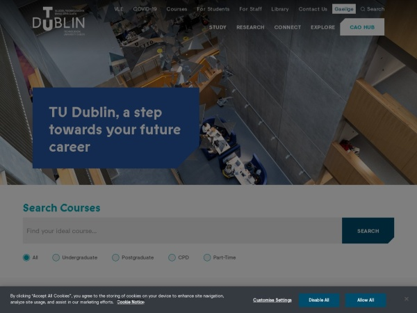 Screenshot of tudublin.ie