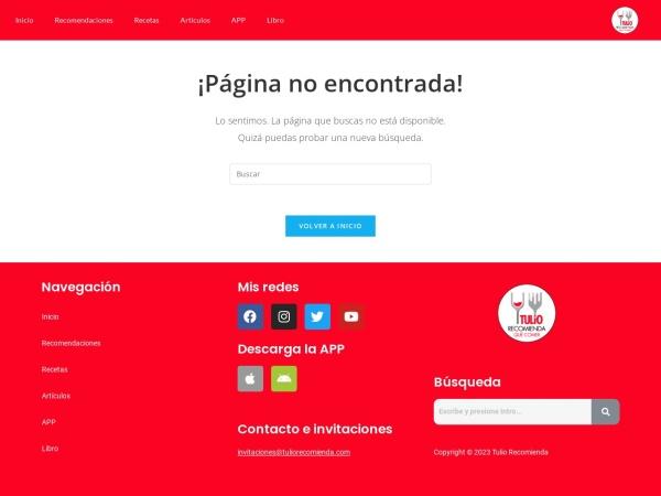 Captura de pantalla de tuliorecomienda.com