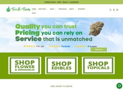 Screenshot of tweedlefarms.com