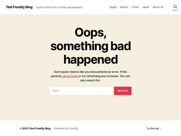Screenshot of twentytwenty.frontity.org