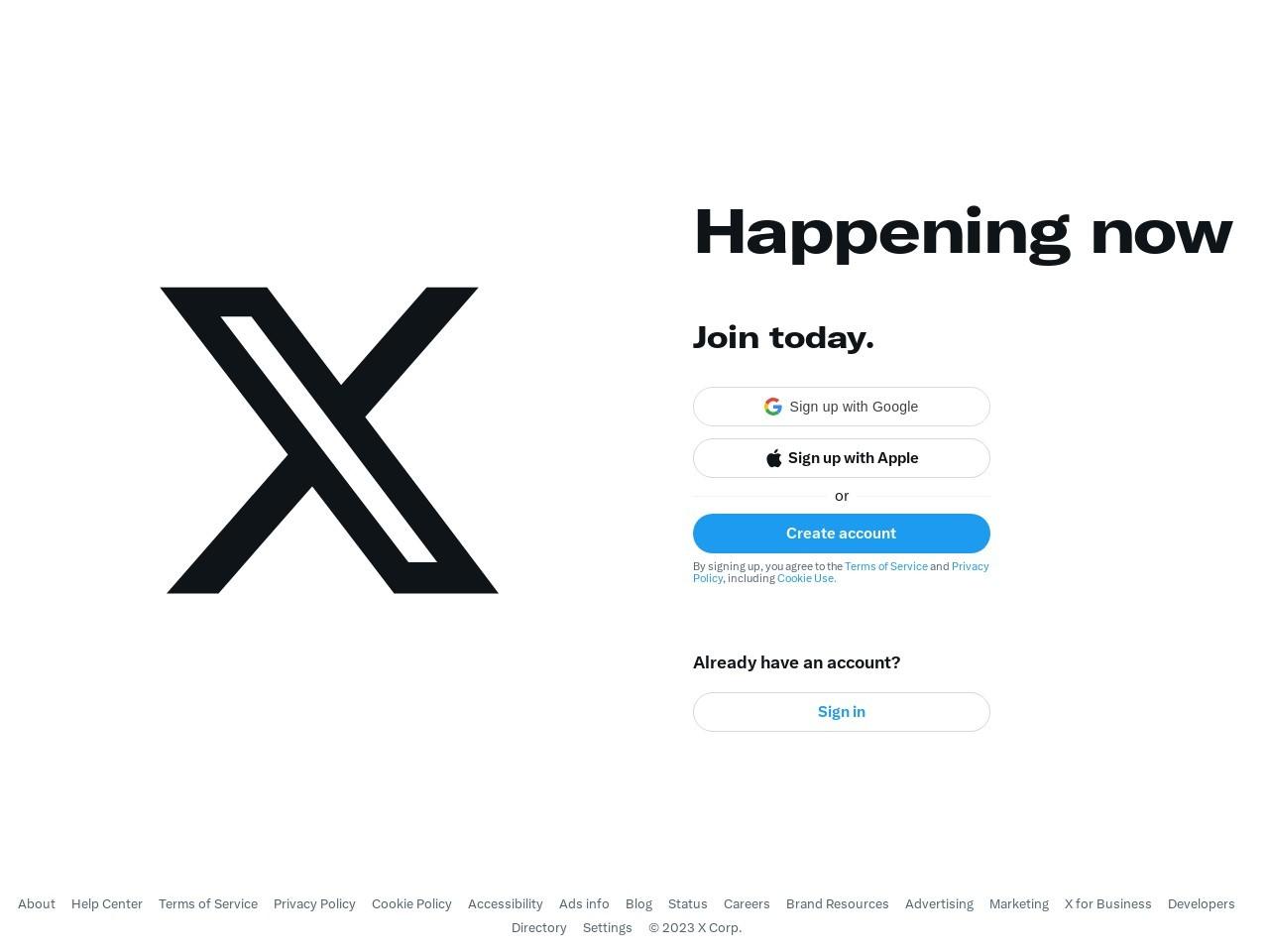 Screenshot of twitter.com