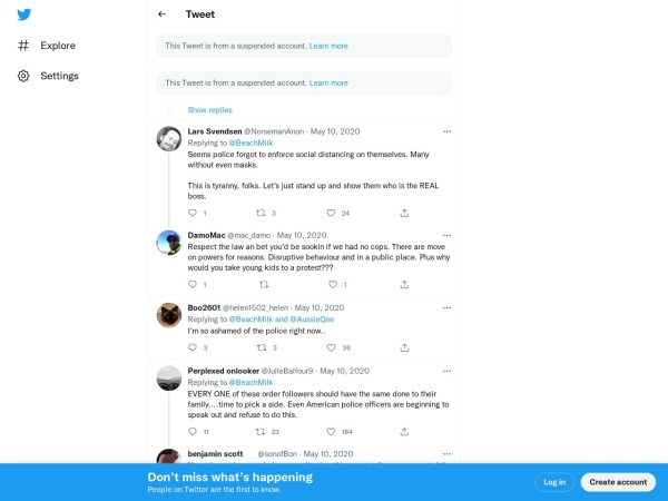 Screenshot of twitter.com
