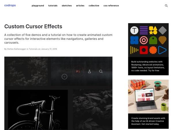 Screenshot of tympanus.net