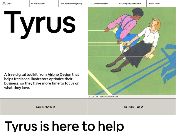 Screenshot of tyrus.design