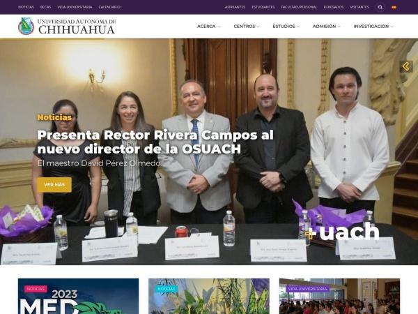 Screenshot of uach.mx