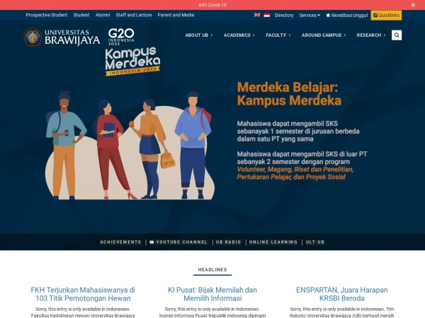 Screenshot of ub.ac.id