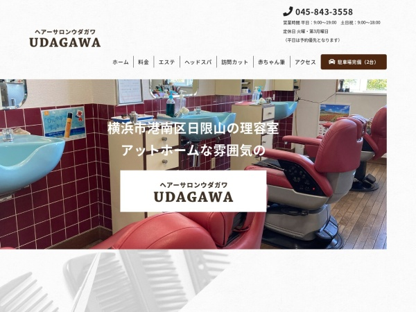 Screenshot of udagawahair.com