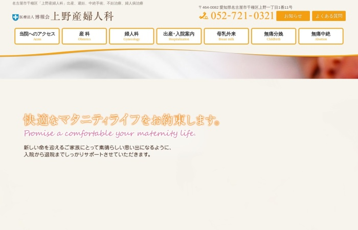 Screenshot of ueno-sanfujinka.jp