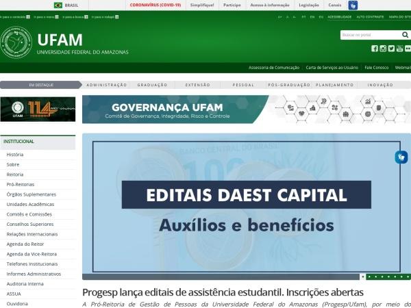 Screenshot of ufam.edu.br