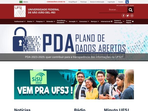 Screenshot of ufsj.edu.br