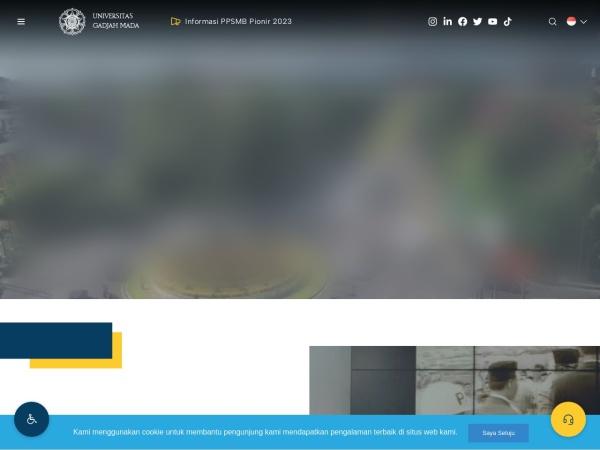 Screenshot of ugm.ac.id