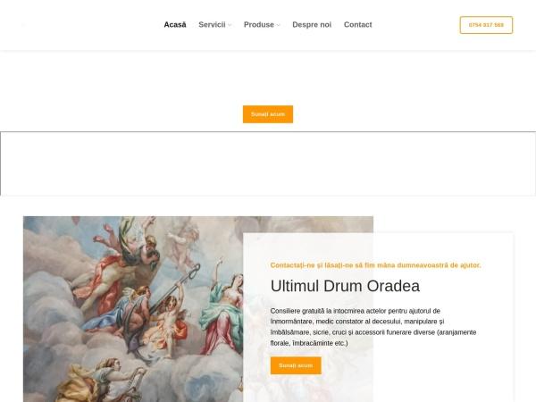 Screenshot of ultimuldrumoradea.ro