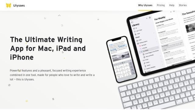 Screenshot of ulyssesapp.com