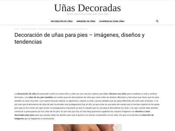 Captura de pantalla de unasdecoradas.pro