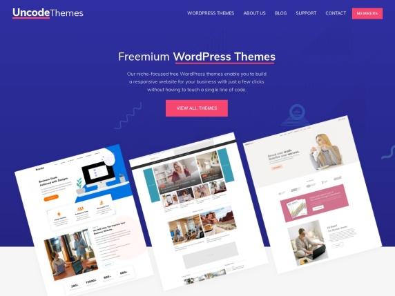 Uncode Themes homepage