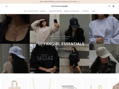 Screenshot of uncommonjames.com