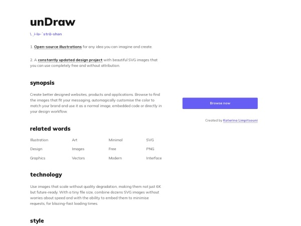 Screenshot von undraw.co