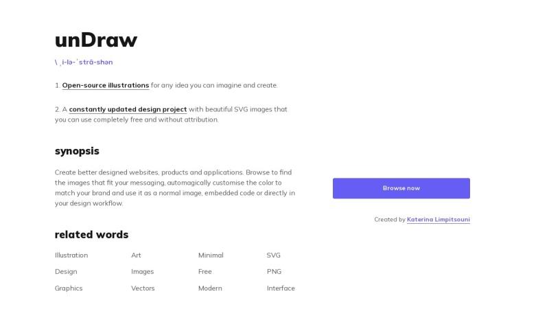Screenshot von undraw.co