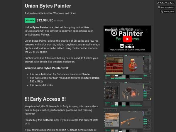 Screenshot of unionbytes.itch.io