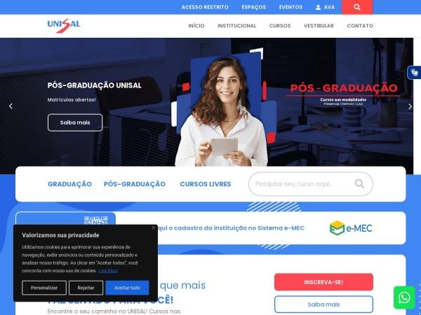 Screenshot of unisal.br