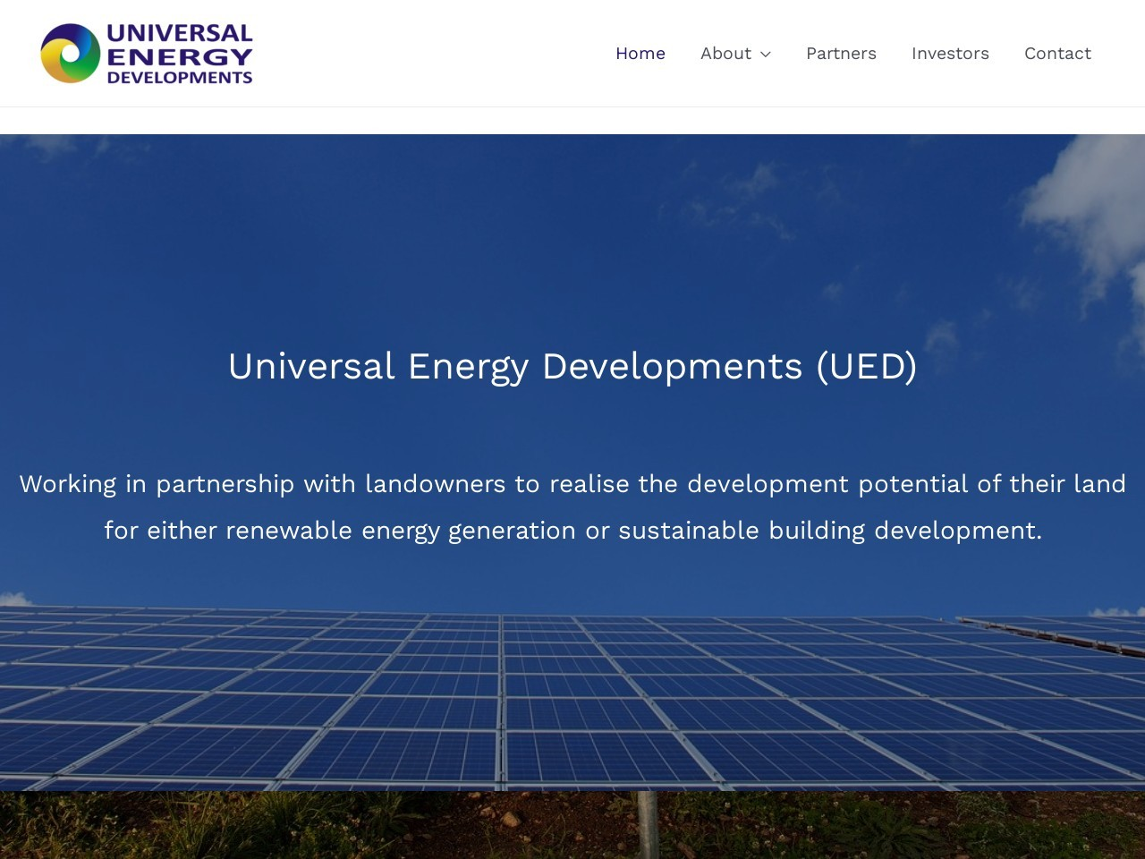 Screenshot of universalenergy.uk