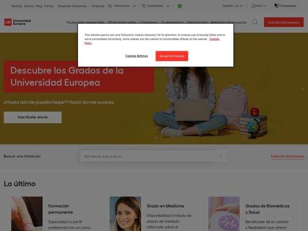 Screenshot of universidadeuropea.es