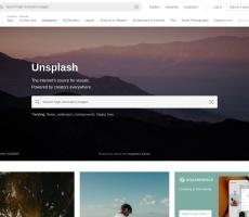 Screen de Unsplash