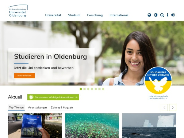 Screenshot of uol.de