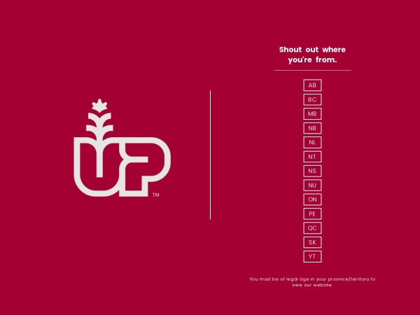 Screenshot of up.ca