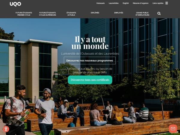 Screenshot of uqo.ca