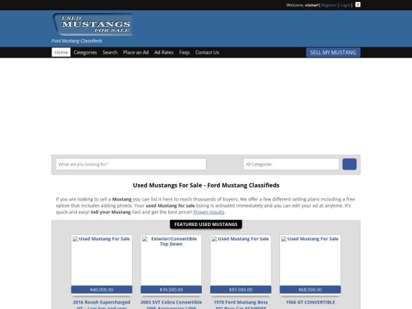 Screenshot of usedmustangsforsale.com