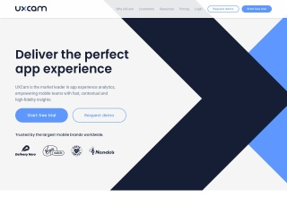 Screenshot of uxcam.com
