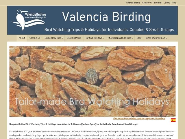 Screenshot of valenciabirding.com