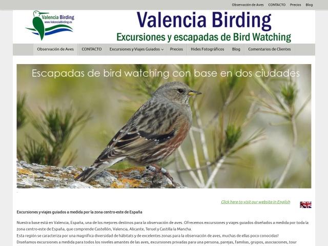 Screenshot of valenciabirding.es