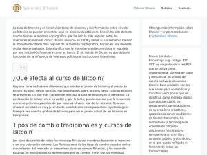 Screenshot of valordebitcoin.es