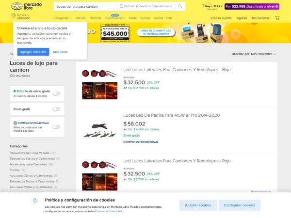Captura de pantalla de vehiculos.mercadolibre.com.co