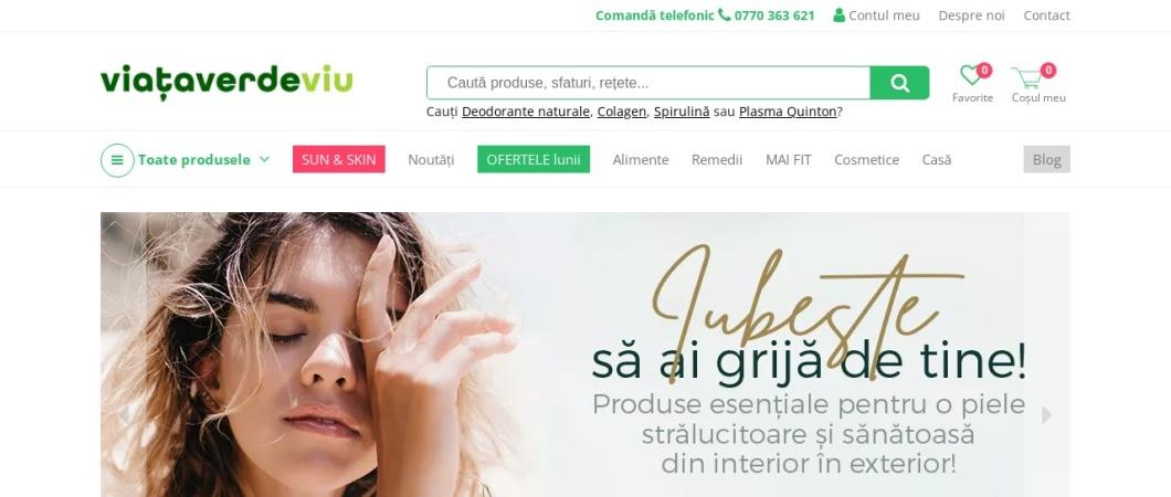 Screenshot of viataverdeviu.ro