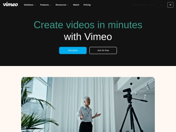 Screenshot of vimeo.com
