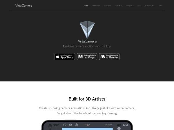Screenshot of virtucamera.com