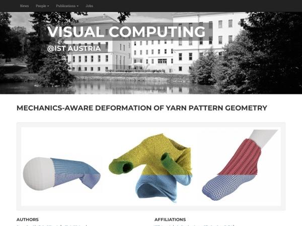 Screenshot of visualcomputing.ist.ac.at
