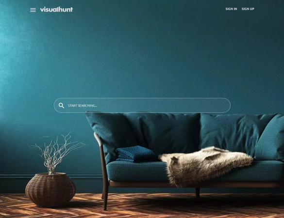 Screenshot of visualhunt.com