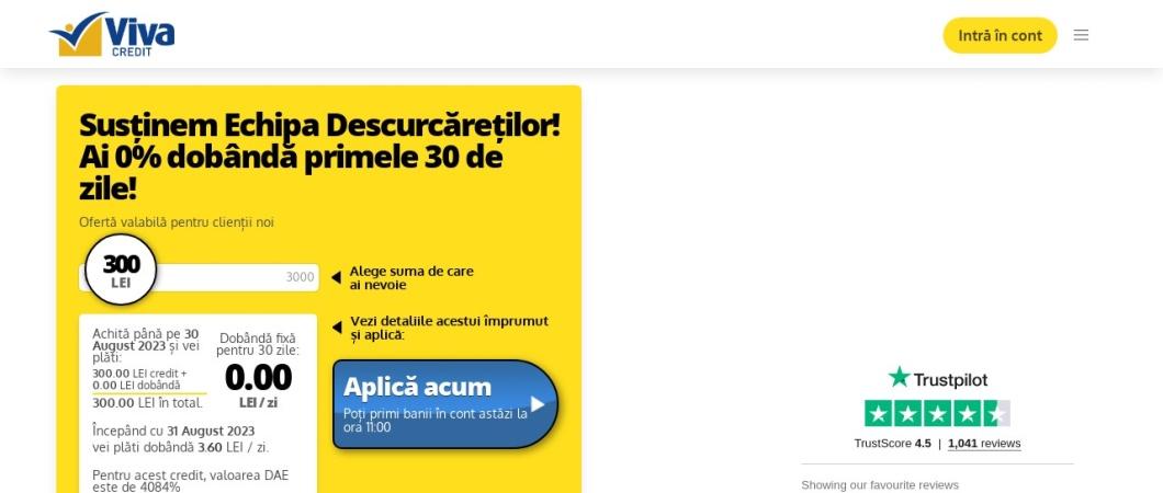 Screenshot of vivacredit.ro