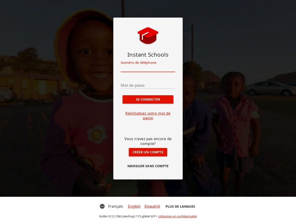 Screenshot of vodaeduc.vodacom.cd