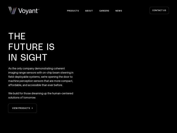 Screenshot of voyantphotonics.com