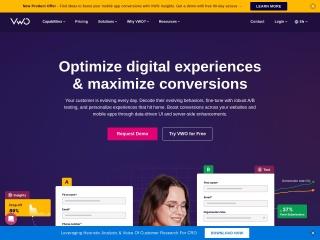 Screenshot of vwo.com