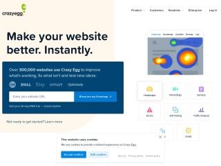 Screenshot of w3.crazyegg.com